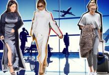 Стиль Виктории Бекхэм, Дженнифер Энистон и других в аэропорту: от шпилек и вечерних платьев до треников и пижам